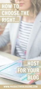 One of the most important considerations when starting a new blog is choosing your hosting. Picking the wrong host can cause you all kinds of headaches and potentially cause blogging downtime and loss of income. Read on to discover how to choose the right host for your blog. #host #bloghost #siteground #bloghosting #wordpress #selfhosted #blog #blogging #blogger #bloggingtips #productivity #productiveblogging