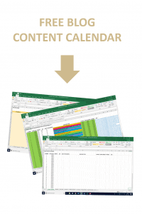 Free Blog Content Calendar Productive Blogging