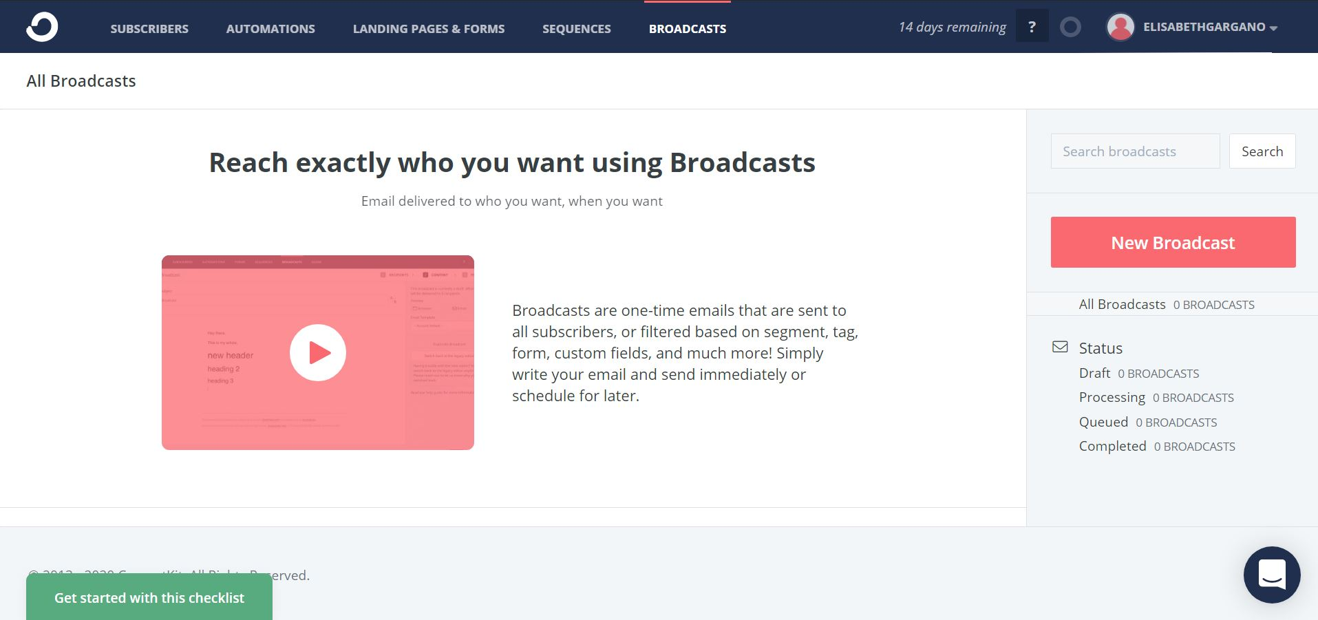 How to create a broadcast in ConvertKit