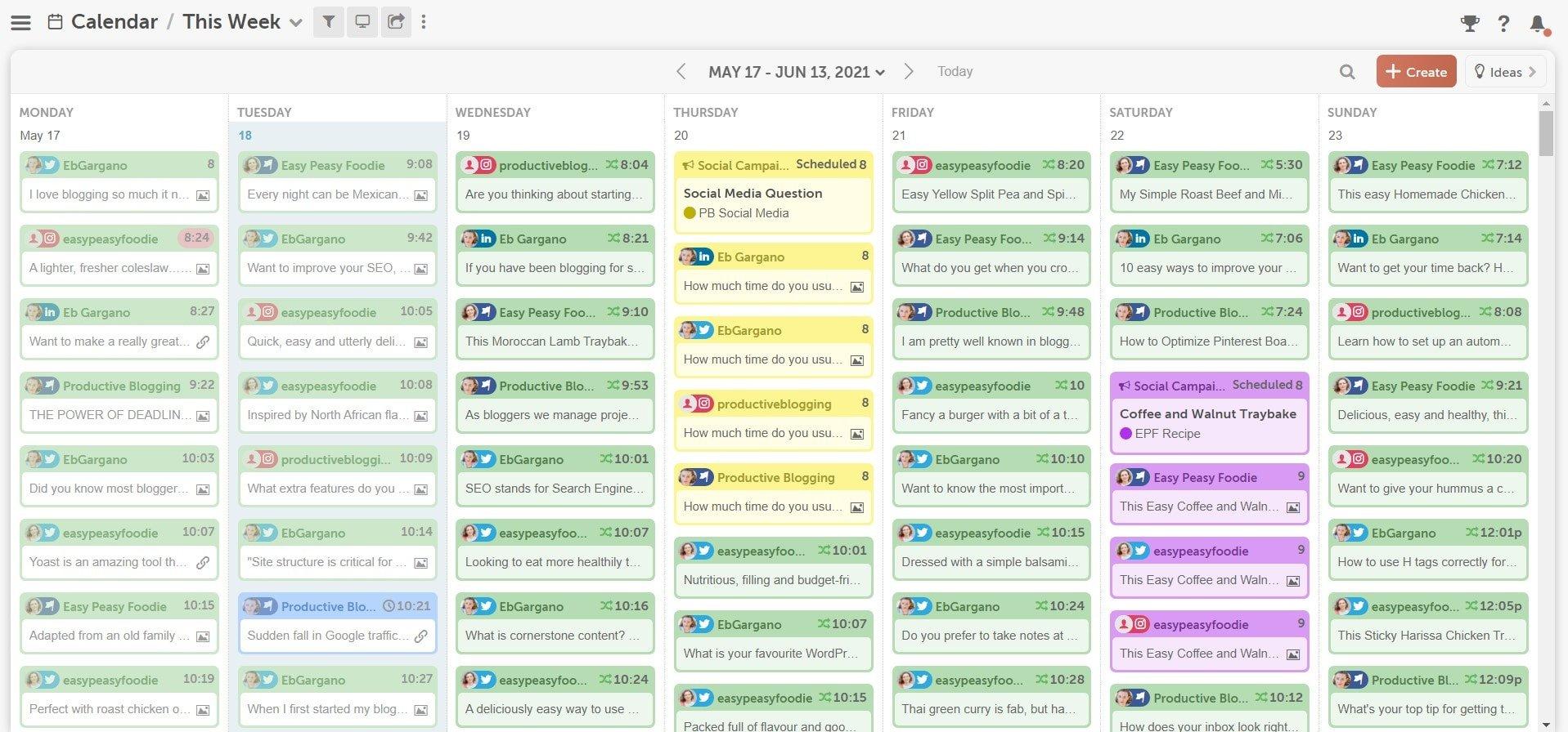 CoSchedule Marketing Calendar