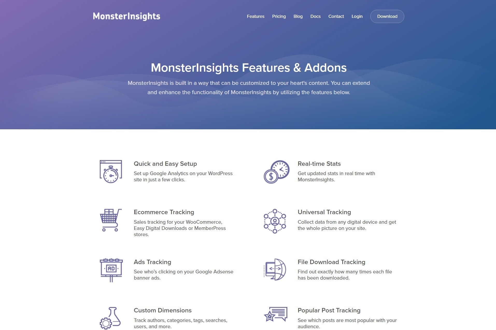 Monster Insights for Google Analytics