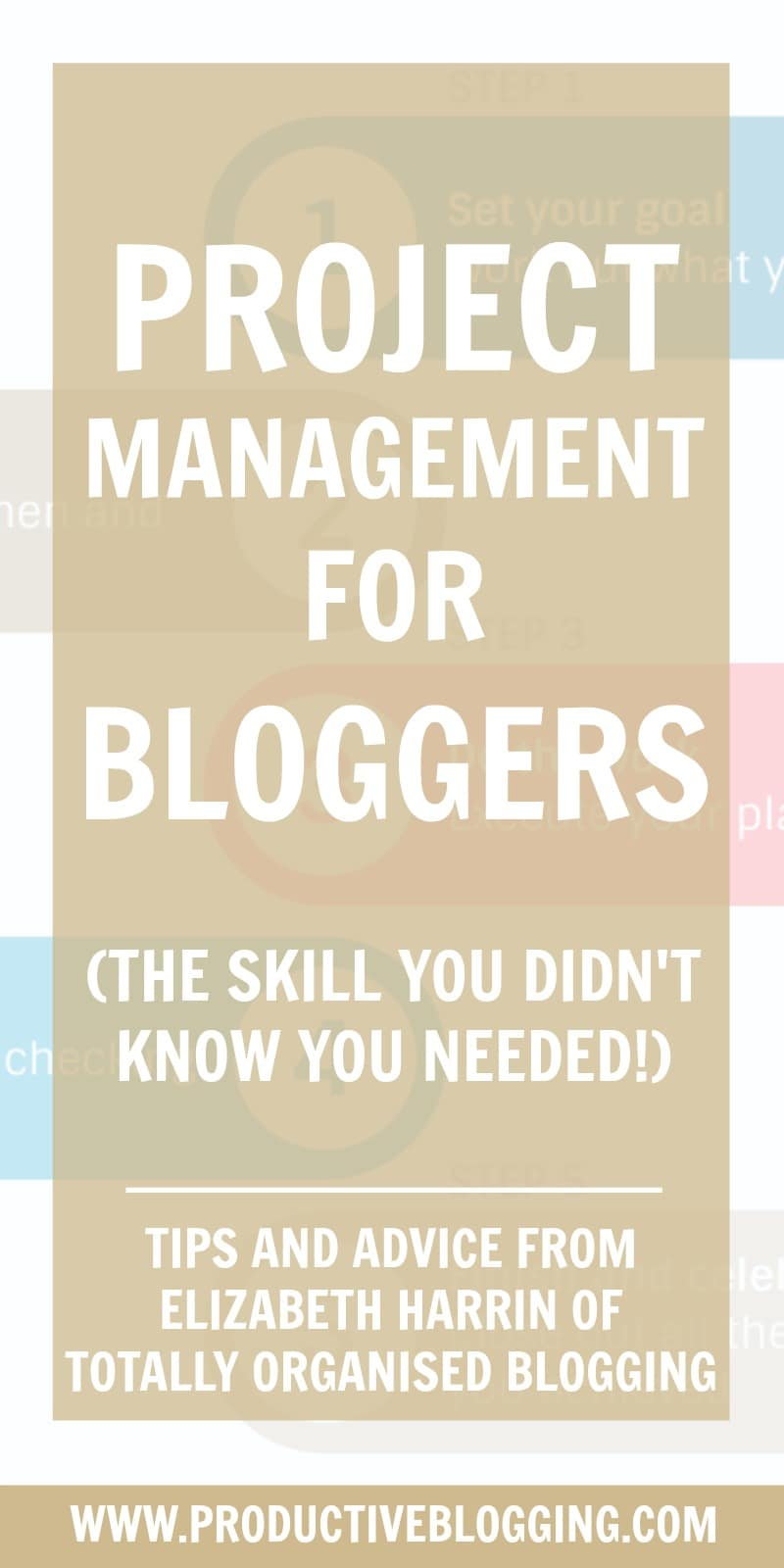 As bloggers we manage projects all the time, even if we might not think of them as projects! Elizabeth Harrin is a professional project manager, as well as an award winning blogger. She shares her tips on project management for bloggers – showing how using project management techniques can make blogging less stressful and leave you feeling more in control! #projectmanagement #projectmanagementforbloggers #elizabethharrin #guestpost #productivitytips #bloggingtips #productiveblogging