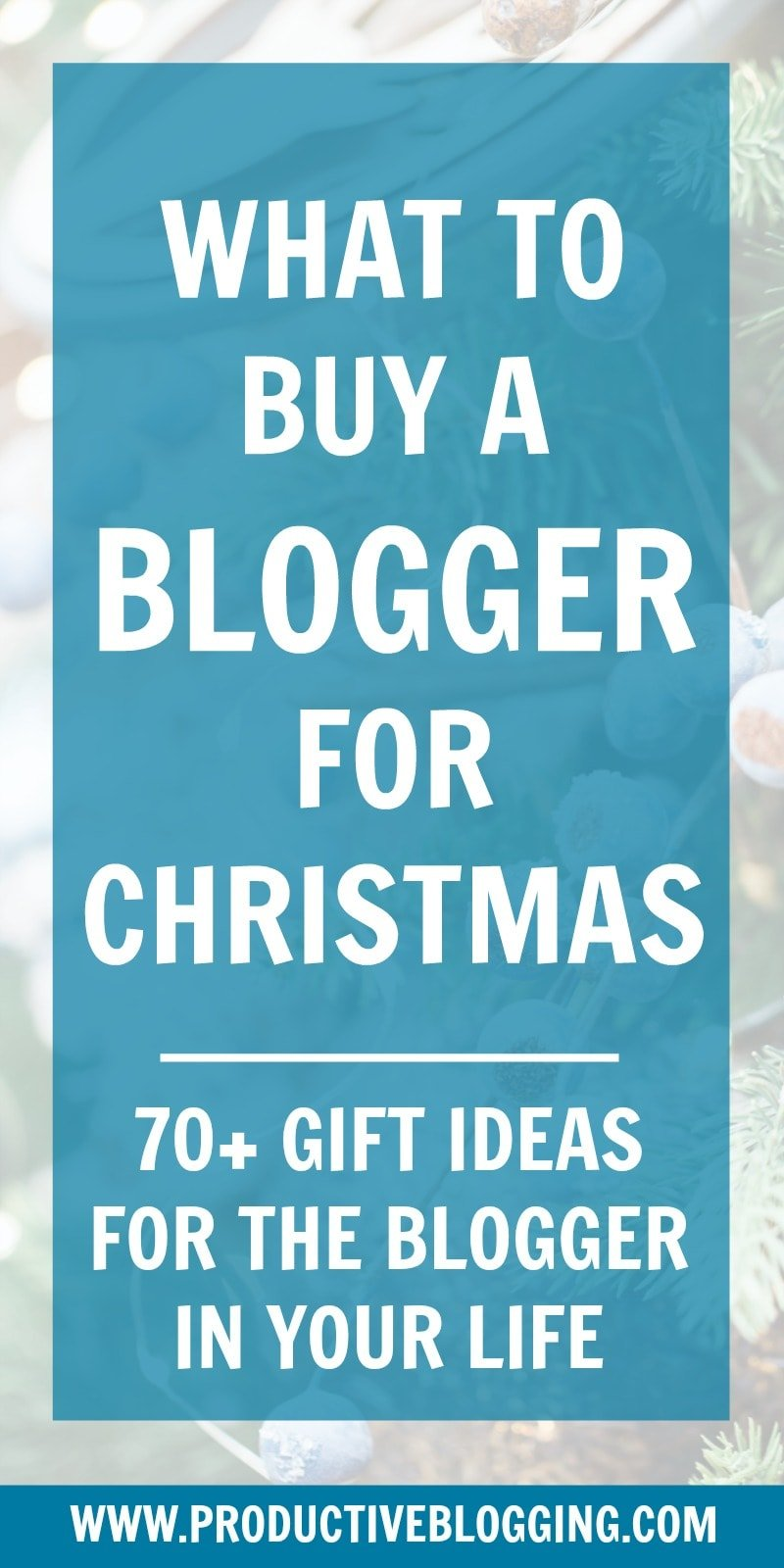Wondering what to buy a blogger in your life for Christmas? Or are you a blogger who would like a 'done for you' list of Christmas present ideas to give to family and friends? Here's what to buy a blogger for Christmas… #christmas #christmaspresents #bloggerchristmaspresents #giftguide #bloggergiftguide #presentideasforbloggers #giftideasforbloggers #presentideas #giftideas #christmaspresentideasforbloggers #christmasgiftguideforbloggers #christmasgiftideasforbloggers #productiveblogging