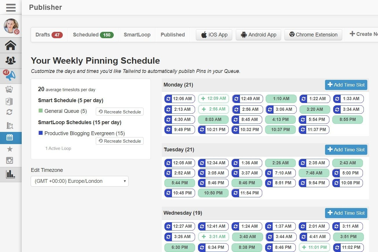 Tailwind Smart Schedule Example