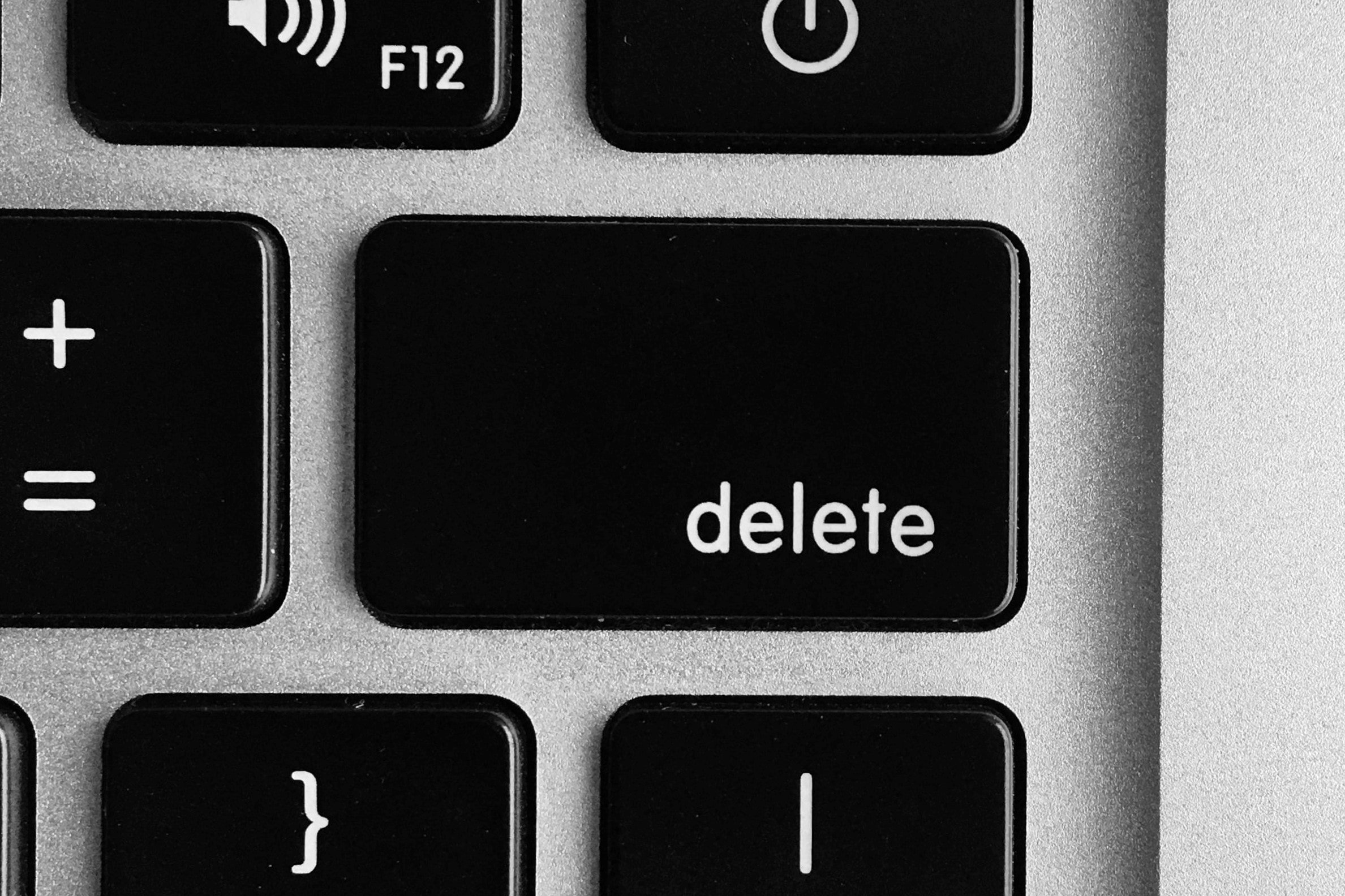 Delete button on a computer