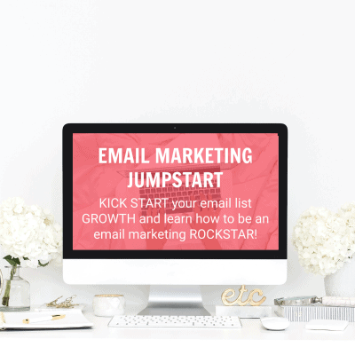 Email Marketing Jumpstart Course – KICK START your email list GROWTH and learn how to be an email marketing ROCKSTAR!