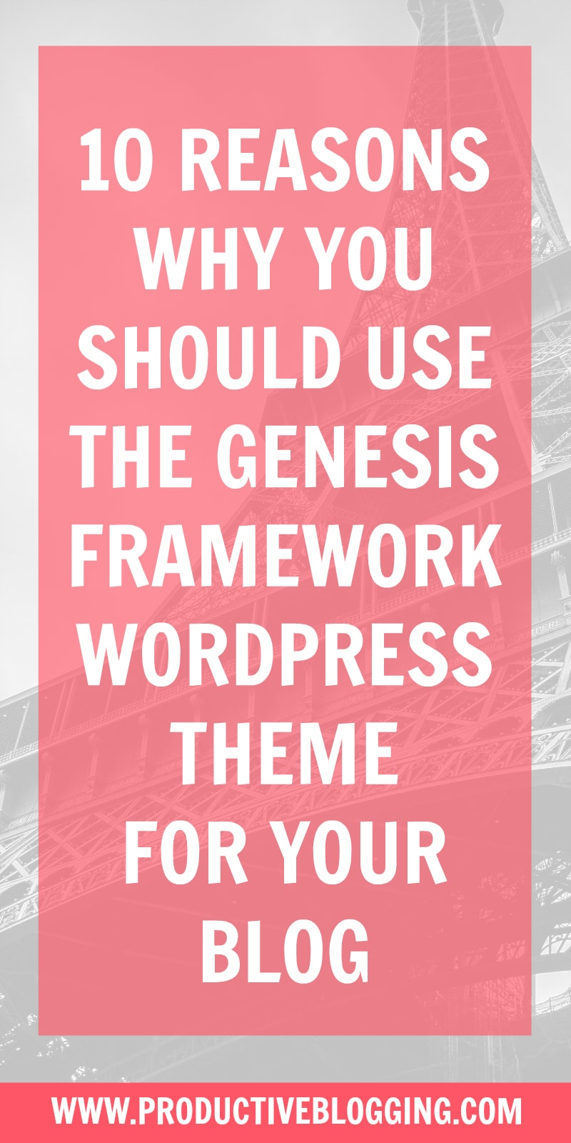Choosing a WordPress theme is one of the most important blogging decisions you will make, so it's important to get it right. Here's 10 reasons why you should use the Genesis Framework WordPress theme for your blog. #genesis #genesistheme #genesisframework #genesiswordpress #wordpressblog #wordpresstheme #wordpressgenesis #parenttheme #genesisparenttheme #childtheme #restored316 #restored316childtheme #blogging #bloggingtips #wordpresstips genesistips #productiveblogging