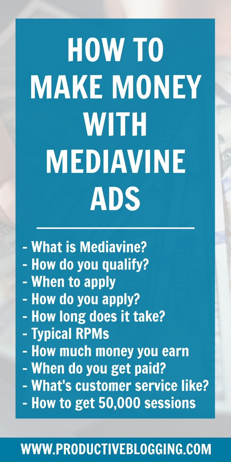 Want to make a really great passive income from your blog? Then join Mediavine! In this article I share exactly how to make money with Mediavine ads. #mediavine #mediavineads #makemoneyblogging #monetiseyourblog #makemoneywithads #makemoneywithmediavine #adincome #bloggingformoney #howdoblogsmakemoney #passiveincome #treatitlikeabusiness #businessblogging #bizblogging #blogginggoals #bloggingtips #productiveblogging #blogsmarternotharder #productivebloggingcommunity
