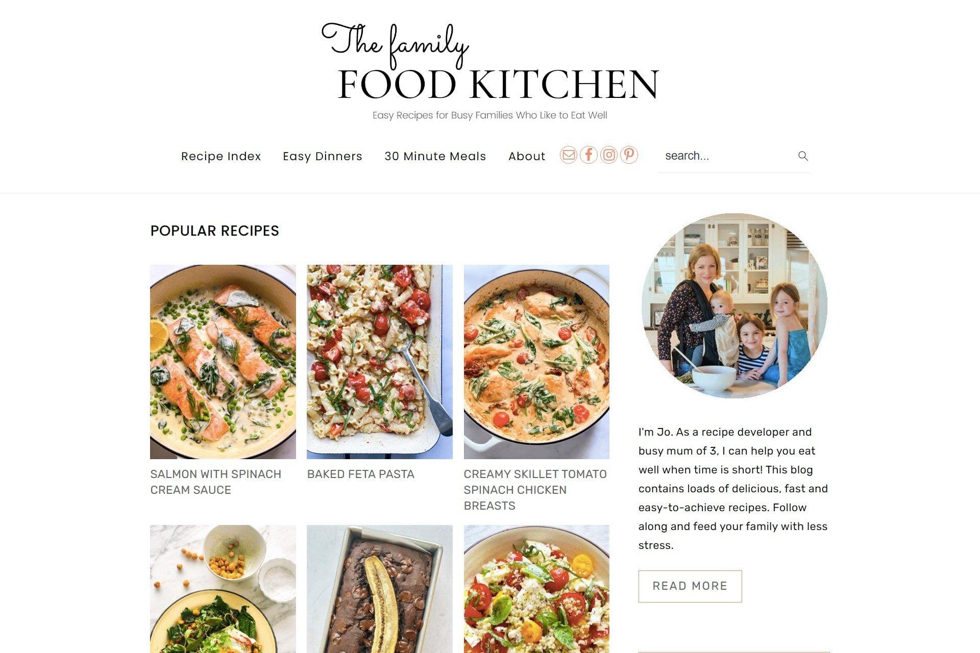 Family Food Kitchen Screengrab