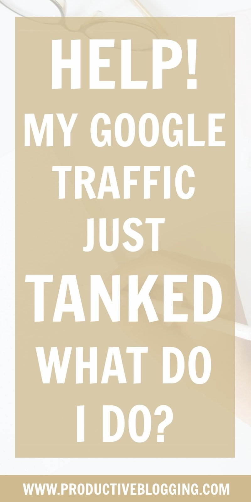 Freaking out right now because your Google traffic just taken a nosedive?? Take a deep calming breath and then read my step-by-step guide on exactly what to do if your Google traffic suddenly drops. #googletraffic #growyourblog #bloggrowth #SEO #SEOtips #SEOhacks #searchengineoptimization #SEOforbloggers #SEOforbeginners #beginnersSEO #growyourblog #bloggrowth #bloggingtips #blogtips #blogging #bloggers #productiveblogging