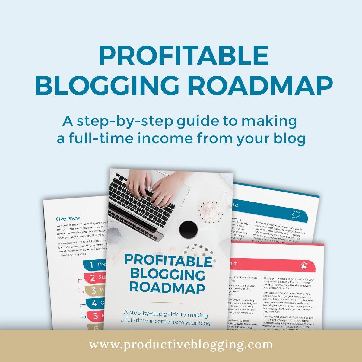 Profitable Blogging Roadmap Hero Image