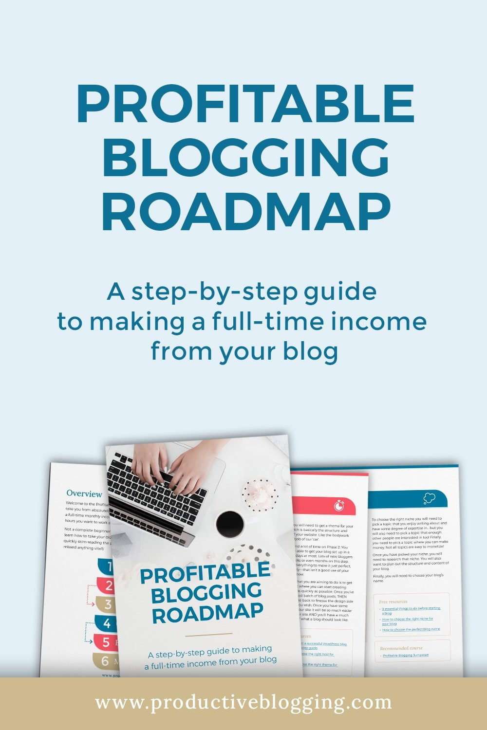 Want to make money blogging? The good news is making money from a blog is easier than you think. All you need is a good roadmap! My Profitable Blogging Roadmap is a step-by-step guide to making a full time income from your blog. It comes from years of blogging experience, research and experimentation… A journey that has led me to where I am today - a six figure blogger! #makemoneyblogging #moneymakingblog #profitableblog #profitableblogging #bloggingroadmap #sixfigureblogger #productiveblogging