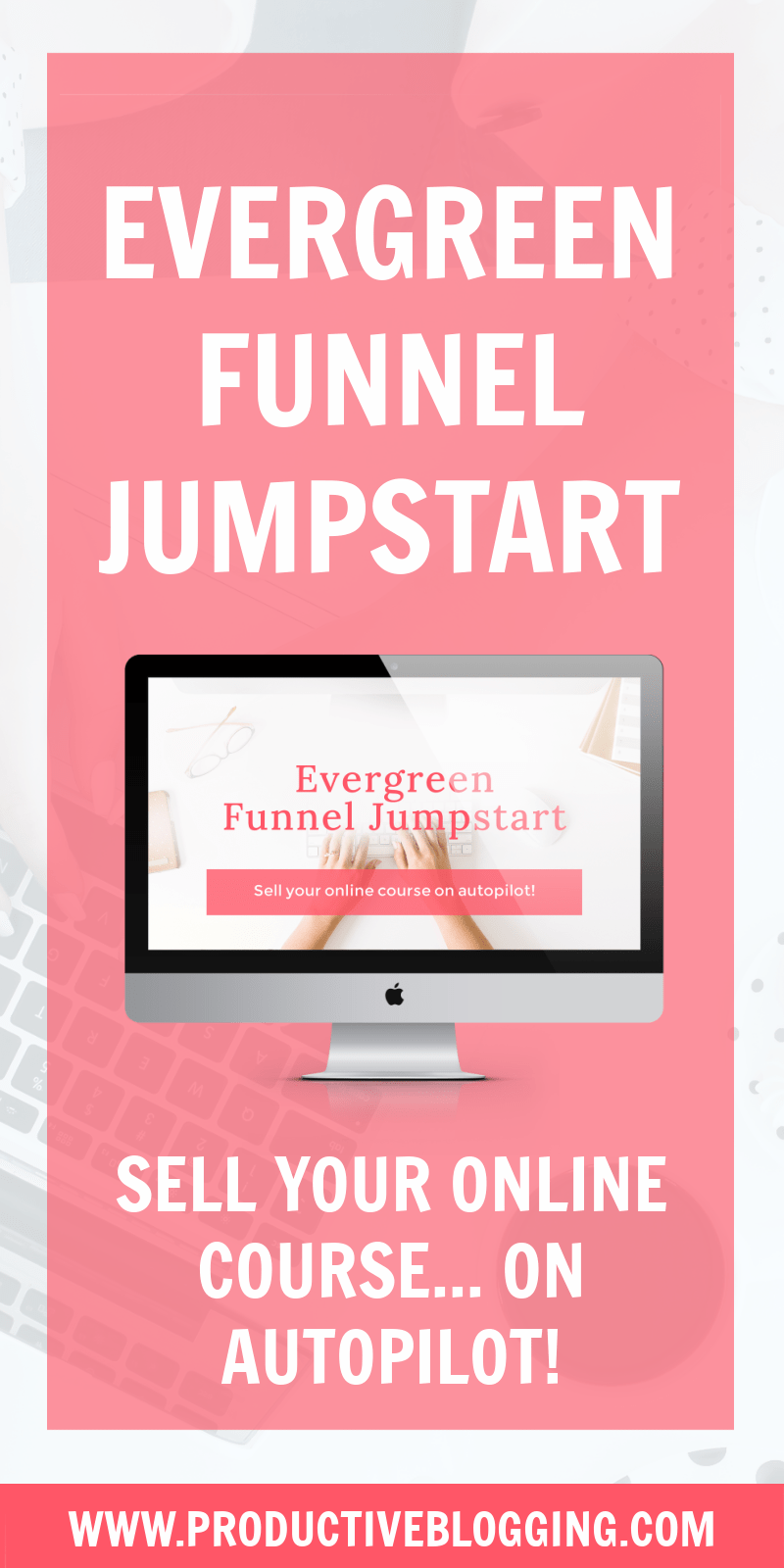 What if there was a way to ensure every new subscriber got their own personalized 'launch week'? And what if it was possible to put that on autopilot so you could just sit back and watch while the sales roll in and your piggy bank fills up? WELL THERE IS! You can learn exactly how to do all of this in EVERGREEN FUNNEL JUMPSTART! #onlinecourse #digitalcourse #salesfunnel #evergreenfunnel #evergreensalesfunnel #evergreensalessequence #deadlinefunnel #evergreenfunneljumpstart #productiveblogging