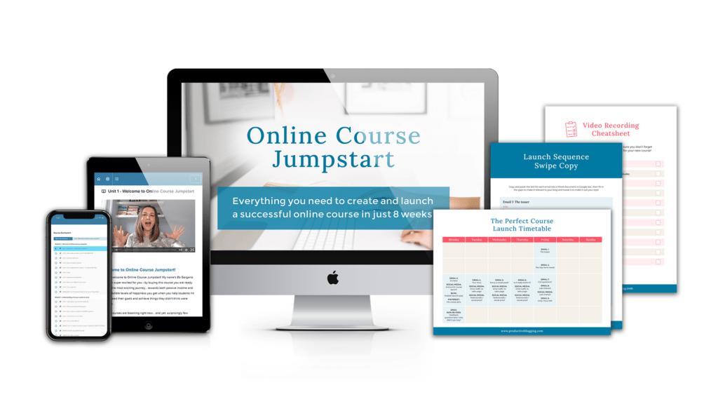 Online Course Jumpstart Mockup